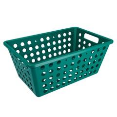 Cesta Organizadora One Grande 28,8x19,1cm Verde Esmeralda - Coza
