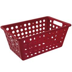 Cesta Organizadora One Grande 28,8x19,1cm Vermelha - Coza