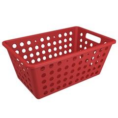 Cesta Organizadora One Grande 28,8x19,1cm Vermelho Bold - Coza