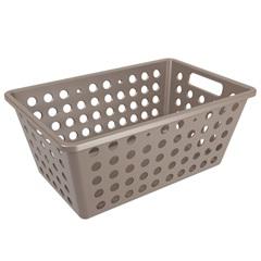 Cesta Organizadora One Grande 28,8x19,1cm Warm Gray - Coza