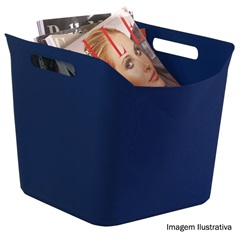 Cesto Flexível Quadrado de Plástico Azul 25 Litros  - Keter