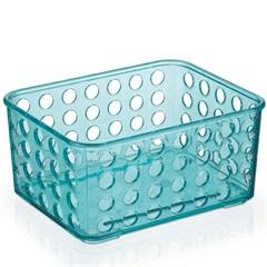 Cesto Organizador 16,5x12,9cm Azul Tiffany - Arthi