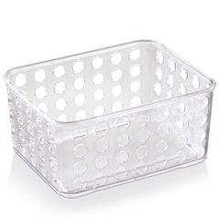 Cesto Organizador 16,5x12,9cm Transparente - Arthi