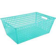 Cesto Organizador de Plástico Verde 38x59x22cm  - Coza