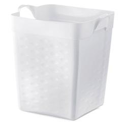 Cesto Organizador Quadrado em Plástico 18 Litros Branco - Sanremo