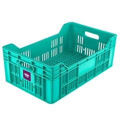Cesto Plástico Empilhável 49x30cm Verde - Ordene