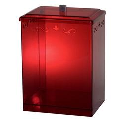 Cesto Retangular com Desenho Vermelho - Formacril
