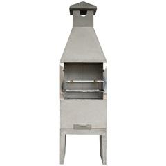 Churrasqueira Lisa em Concreto 220x65cm Cinza - Redentor
