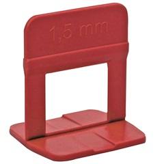 Clip Nivelador para Piso 1,5mm 50 Peças Vermelho - Metropac