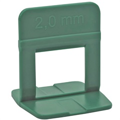 Clip Nivelador para Piso 2mm 50 Peças Verde - Metropac