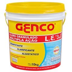 Cloro Granulado Multi Ação 3 com 10kg - Genco