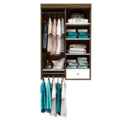Closet Suspenso para Banheiro em Mdp Euforia 135x90cm Branco E Cedro - Albatroz