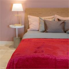 Cobertor de Casal Cozy Grid Marsala 180x220cm - Casa Etna