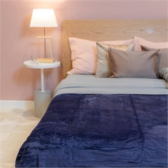 Cobertor de Casal Cozy Waves Azul Marinho 180x220cm - Casa Etna