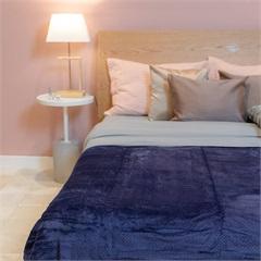 Cobertor de Solteiro Cozy Waves Azul Marinho 150x220cm - Casa Etna