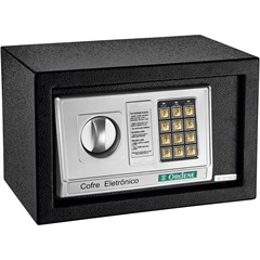 Cofre Eletrônico 31x20cm Preto - Ordene