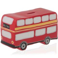 Cofre em Cerâmica Bus 12,8cm Vermelho - Casa Etna
