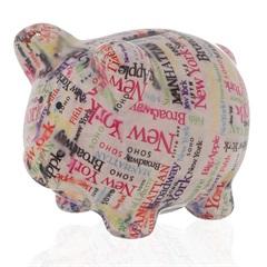 Cofre em Cerâmica Pig Travel 11,2cm Branco - Casa Etna