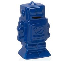 Cofre em Cerâmica Robot 20cm Azul - Casa Etna