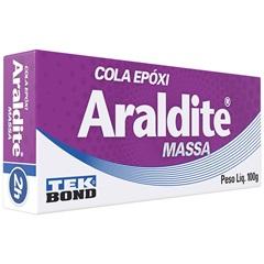 Cola Epóxi Araldite Massa 100g Branco E Cinza - Tekbond