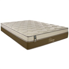 Colchão Queen Size de Mola Palermo Pillow 158x198x32cm Marrom - Portobel