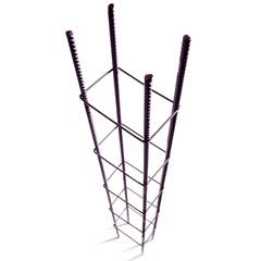 """Coluna em Aço Viga Pop 5/16"""" 9x14cm com 3 Metros - Gerdau"""