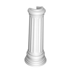Coluna para Lavatório Windsor 66x27cm Branca - Deca