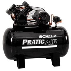 Compressor de Ar de Pistão Csv 10/100 Monofásico 110v Preto - Schulz