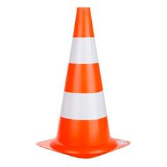 Cone Pro Safety 50cm Branco E Laranja - Delta Plus