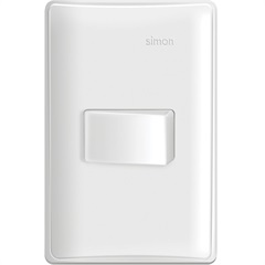 Conjunto 1 Interruptor Horizontal Simples 10a 220v Simon 19 Branco - Simon
