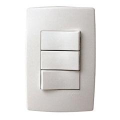 Conjunto com 2 Interruptores + 1 Paralelo com Placa Pialplus Ref. 613101 - Pial Legrand