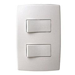 Conjunto com 2 Interruptores Paralelos com Placa Pialplus Ref. 612104 - Pial Legrand