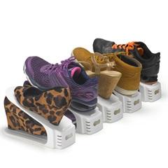 Conjunto com 5 Organizadores de Sapatos Double Branco - Arthi