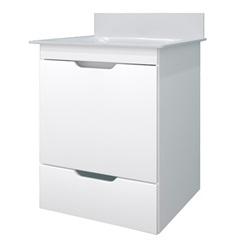 Conjunto com Tampo Verona Branco 65x43cm - Bonatto