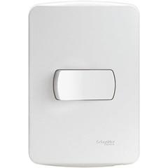 Conjunto de 1 Interruptor Simples 10a 220v com Placa 4x2 Miluz Branca