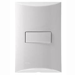 Conjunto de 1 Interruptor Simples Brava Branco - Iriel