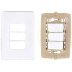 Conjunto de 3 Interruptores Paralelos Zeffia  4x2 10a 250 V 680107 - Pial Legrand