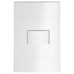 Conjunto de Interruptor Simples 10a 250v Lunare Branco - Schneider