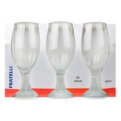 Conjunto de Taças para Cerveja em Vidro 300ml 3 Peças - Fratelli