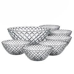 Conjunto de Tigelas de Vidro Diamond 7 Peças - Euro
