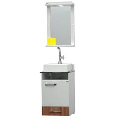Conjunto em Mdf para Banheiro com Toucador E Espelho Caribe 61x45cm Nogal - Bonatto