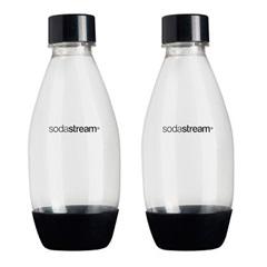 Conjunto Garrafa Plástica Soda Stream Preto 500ml com 2 Peças - M Cassab