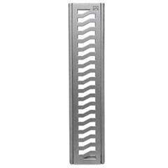 Conjunto Grelha E Porta Grelha em Alumínio Elegance 10x50cm Alumínio - Costa Navarro