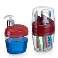 Conjunto para Banheiro Belle com 2 Peças Vermelho - Arthi
