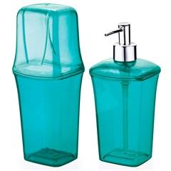 Conjunto para Banheiro com 2 Peças Azul Tiffany - Arthi