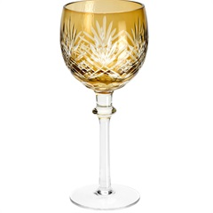 Conjunto Taça de Cristal para Água Palm 360ml Âmbar com 6 Peças - Wolff