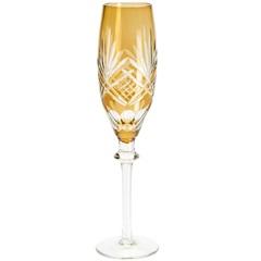 Conjunto Taça de Cristal para Champagne Palm 210ml Âmbar com 6 Peças - Wolff