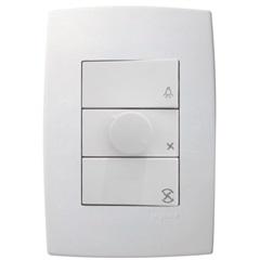 Controle de Ventilador 160w 110v Pialplus Branco