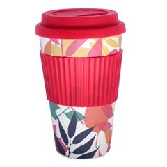 Copo para Café em Fibra de Bambu com Tampa de Silicone 380ml Colorido - Casanova