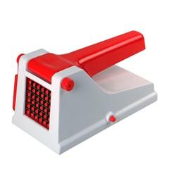 Cortador de Batata Plástico Branco E Vermelho - Casanova